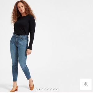 Everlane Stretch High-Rise Skinny in Mid-Blue